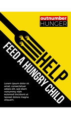 Feed the Hungry. Hunger Prevention Ad Poster Template.