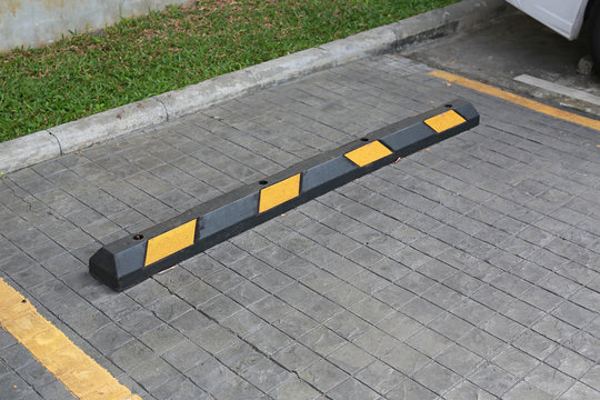Bumps barrier for reduce car speed when parking.