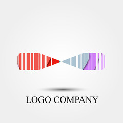abstract ribbon vector logo, sign, or symbol concept for startup company