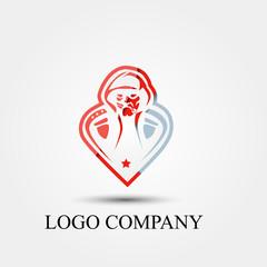 veteran vector logo, sign, or symbol concept for startup company