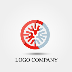 tree vector logo, sign, or symbol concept for startup company