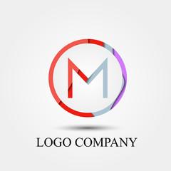 M letter vector logo, symbol, icon for logo company