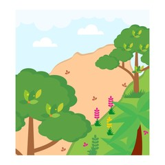 meadow sand land trees scenery landscape background