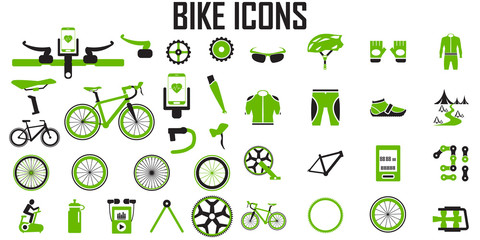 bike icon set vector.
