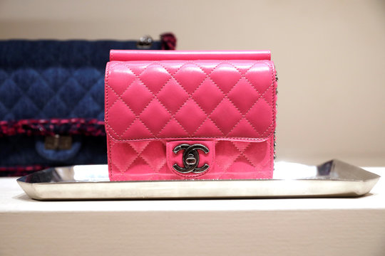A luxury handbag from Chanel is displayed at The RealReal shop, a seven-year-old online reseller of luxury items on consignment in the Soho section of Manhattan, in New York City