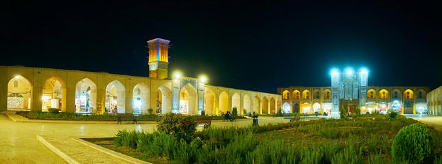 Evening panorama of Kerman, Iran