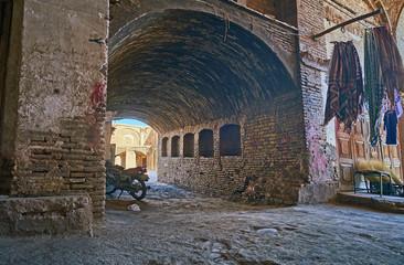 The shabby pass in Kerman bazaar, Iran