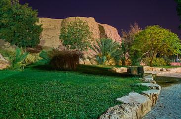Enghelab park in the evening, Kerman, Iran