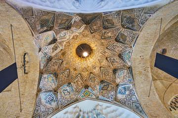 The stellar dome in Kerman Grand Bazaar, Iran
