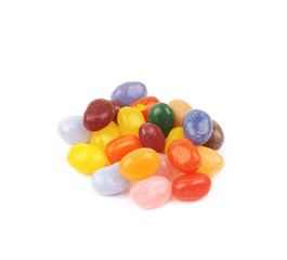 Pile of jelly beans isolated
