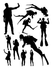 People activity silhouette. Good use for symbol, logo, web icon, mascot, sign, or any design you want.