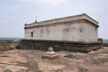 Eradukatte Basadi, Chandragiri hill, Sravanabelgola, Karnataka. It is situated opposite Chavundaraya Basadi and enshrines the statue of Lord Adinataha.