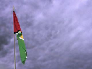 Flag of Guyana hanging down dangling