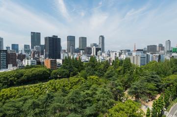 靭公園と大阪の街