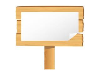 木の看板(張り紙)