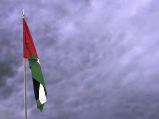 Flag of Jordan hanging down dangling