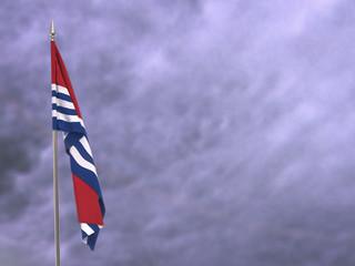 Flag of Kiribati hanging down dangling