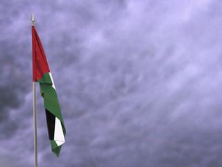 Flag of Palestine hanging down dangling