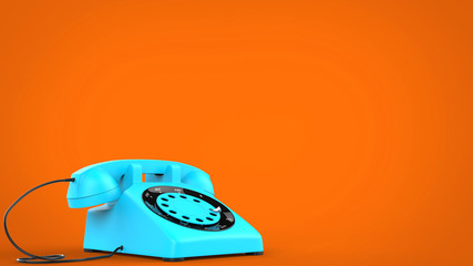 Candy blue vintage telephone