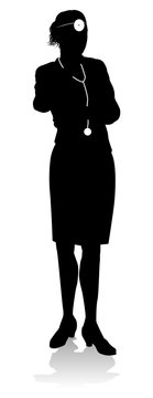 Doctor Woman Silhouette