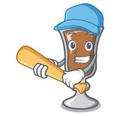 Playing baseball irish coffee character cartoon