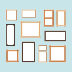 Different size of painting board, blank painting board set, flat design