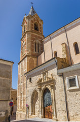 Historic Salvador church in the center of Cuenca, Spain