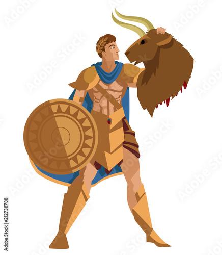 Theseus With Minotaur Head Stockfotos Und Lizenzfreie Vektoren Auf