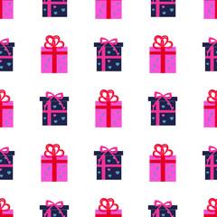 Presen Gift Boxes Seamless Pattern Vector