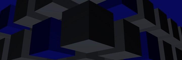 фон синий с объемными фигурами