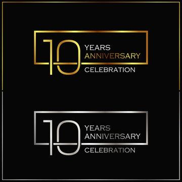 10th years anniversary celebration background