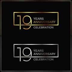 19th years anniversary celebration background