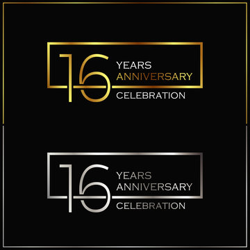 16th years anniversary celebration background