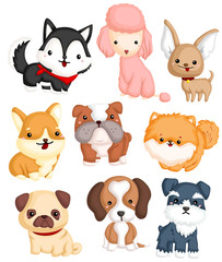 Dogs Type Vector Set