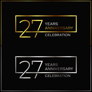 27th years anniversary celebration background