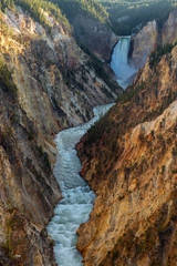 Lower Falls of the Grand Canyon of the Yellowstone National Park, Wyoming, USA