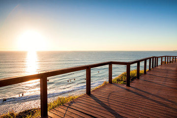 Sunrise with clear sky from North Burleigh Lookout, Gold Coast Australia Wall mural