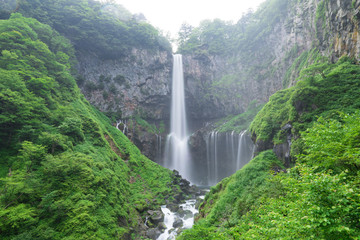 Foto op Plexiglas Grijs Kegon waterfall in summer, Nikko, Tochigi, Japan