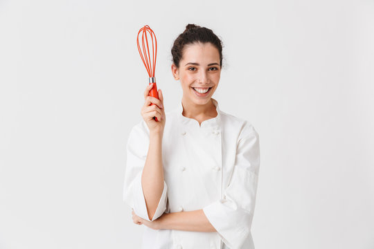 Portrait of a smiling young woman cook