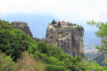Orthodox monastery of the Holy Trinity on one of the rocks of Thessaly in the nome of Trikala