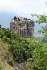 Orthodox monastery of the Holy Trinity on one of the rocks of Thessaly