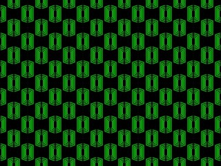 Seamless pattern. Abstraction geometric figure of green on a black background. Vector