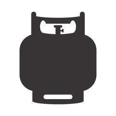 Gas Icon. Cylinder of Tank Logo. power and energy symbol. vector eps 08.