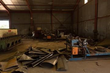 Rusty metal in the scrapyard