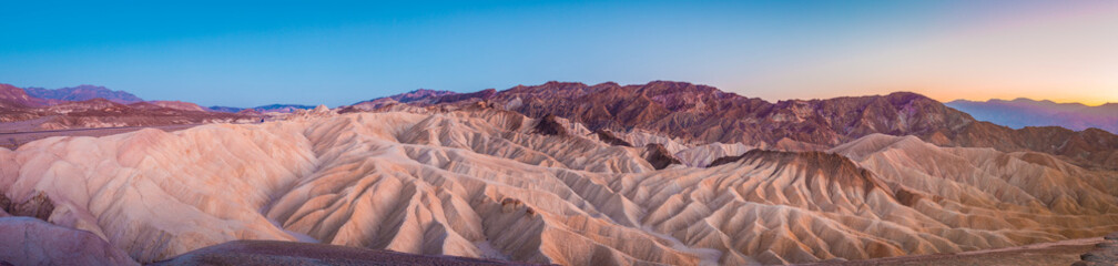 Foto op Plexiglas Zalm Zabriskie Point at twilight, Death Valley National Park, California, USA