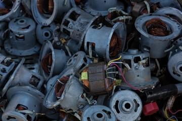 Machine parts in the junkyard