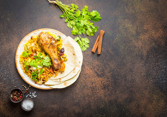 Wall Mural - Biryani chicken dish