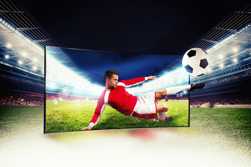Realism of sporting images broadcast on high definition television