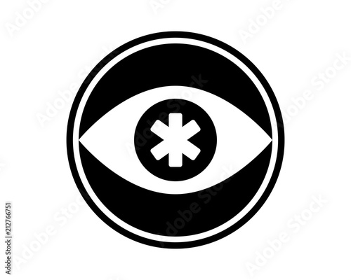 fe398ddfaa7 eye medical silhouette medical medicare health care pharmacy clinic image vector  icon