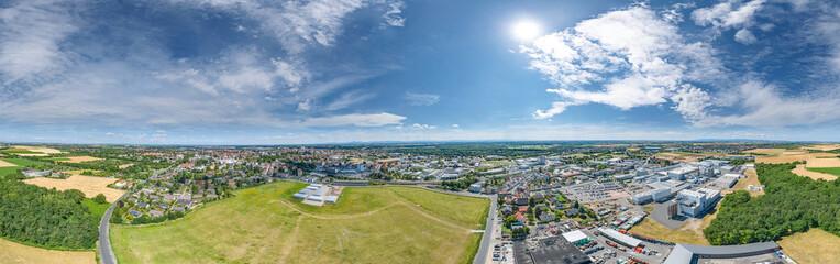 Luftbild Südseite Stadt Worms am Rhein